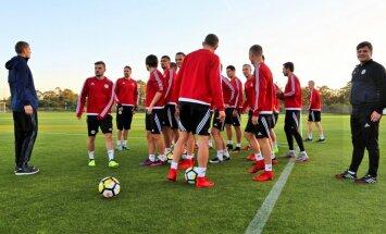 Uz Latvijas futbola izlasi mačam pret Dienvidkoreju izsaukti vēl četri debitanti