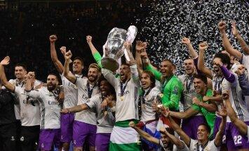 Madrides 'Real' futbolisti otro gadu pēc kārtas triumfē UEFA Čempionu līgā
