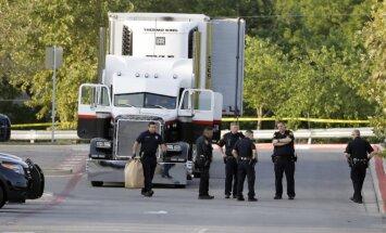 10 cilvēku nāve Teksasā: kravas auto iespiesti bijuši 100 imigranti