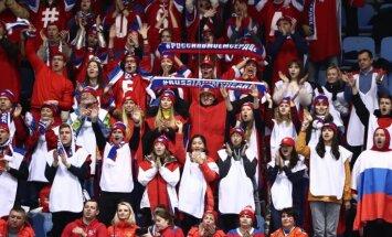 Krievu sportistus Phjončhanā atbalstījušas īpaši atlasītas un apmaksātas līdzjutēju grupas