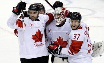 Kanādas hokejisti desmit vārtu mačā izcīna Phjončhanas spēļu bronzu