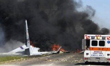Džordžijā nogāžas militārā kravas lidmašīna 'C-130'; pieci bojāgājušie