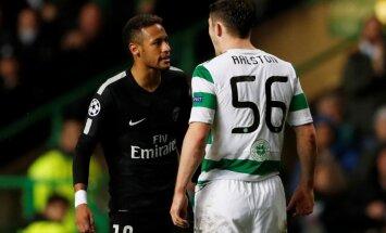 Video: Neimars atteicies paspiest roku pret viņu rupji nospēlējušajam 'Celtic' aizsargam