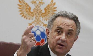 Mutko apstādinājis savu darbību Krievijas Futbola savienības prezidenta amatā