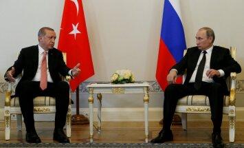 Эрдоган прилетел в Санкт-Петербург и встретился с Путиным