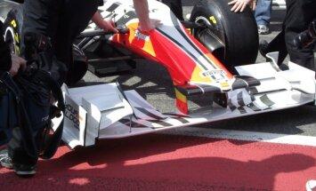 HRT F1 komanda izkrīt triecienizturības testos