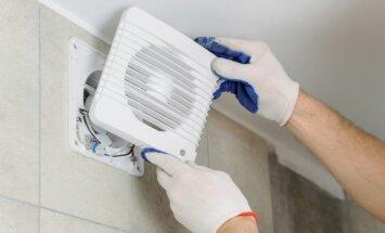 Kā nomazgāt putekļaino ventilācijas resti
