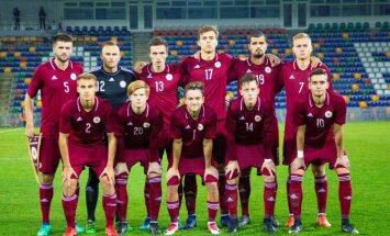 Latvijas U-21 futbolisti EČ kvalifikācijas mačā piekāpjas Nīderlandei