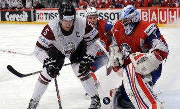 Latvijas hokeja izlase aizvada pirmo pārbaudes spēli pret Norvēģiju