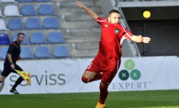 'Skonto' futbolisti pārliecinoši ar 3:1 pārspēj bedrē nonākušo 'Ventspili'