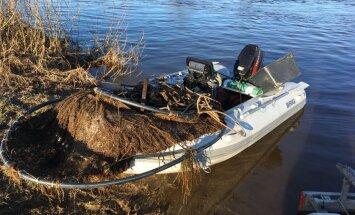Ventā atrod sešus maluzvejnieku nēģu murdus
