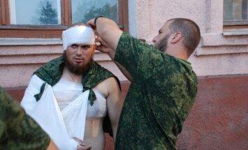 Ukrainā ievainotos Krievijas karavīrus 'slēpj' garnizonos Sanktpēterburgā un Rostovā pie Donas, paziņo Kijeva
