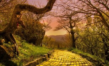 Foto: Maģiski 'iekonservēts' laiks – aizmirstībā pamestais Oza zemes burvja parks