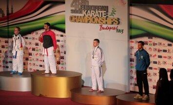 Latvijas karatists Kalvis Kalniņš izcīna bronzas medaļu Eiropas čempionātā Budapeštā