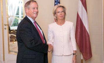 Mūrniece uzsver ASV atbalsta nozīmi Baltijas reģiona drošībai