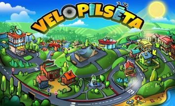 Radīta interaktīva satiksmes drošības spēle bērniem 'Velopilsē