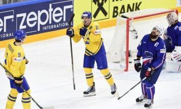 Zviedri pārliecinoši pārspēj Latvijas nākamos pretiniekus francūžus