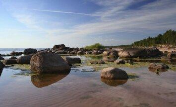 Rīgas līcī ūdens līmenis jau par metru zemāks un turpina pazemināties