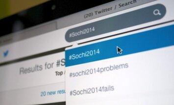 Soču Olimpiskās spēles 'Twitter' aktīvāk apspriež Japānā, Nīderlandē un Kanādā