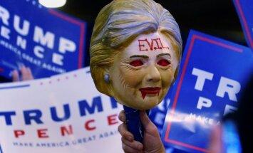 Tramps aptaujās pirmo reizi ir populārāks par Klintoni