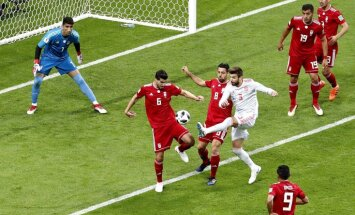 Spānijas izlase ar milzu grūtībām pārspēj Irānu