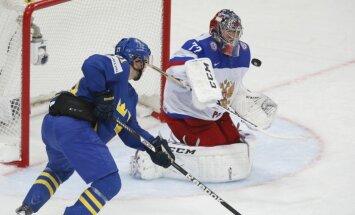 Zviedrijas hokejisti sakauj Znaroka vadīto Krievijas izlasi
