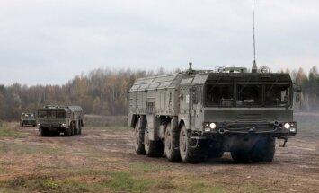 Krievija pie Ukrainas robežām izvietojusi jaudīgās 'Iskander' raķetes