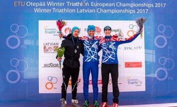 Oskars Muiznieks, ziemas triatlons