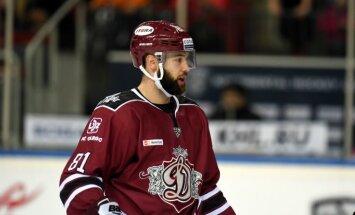 Rīgas 'Dinamo' uzbrucējs Gilīss saņem vienas spēles diskvalifikāciju