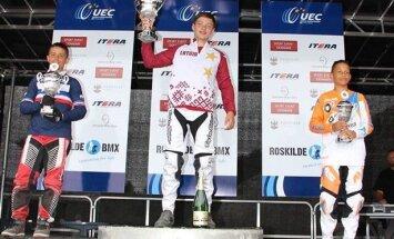 Latvijas jaunie BMX sportisti iegūst četras zelta medaļas Eiropas 'Challenge' čempionātā