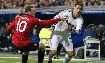 Neizšķirti noslēdzas futbola 'saldais ēdiens' – 'Real Madrid' pret 'Manchester United'