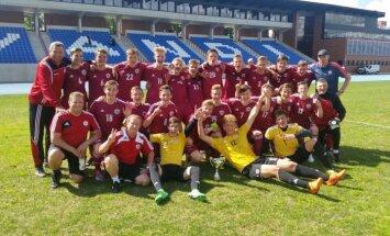 Latvijas U-17 izlases futbolisti triumfē Baltijas kausa izcīņā