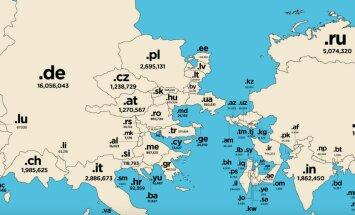 Kāda izskatās interneta pasaules karte