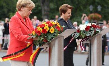 Foto: Merkeles vizīte Rīgā