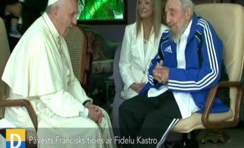 Video: Pāvests Francisks tiekas ar revolucionāru Fidelu Kastro