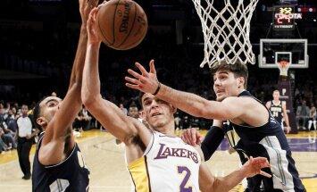 Video: Bols ar savu karjerā otro 'triple-double' kaldina 'Lakers' uzvaru