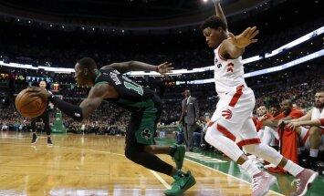 'Celtics' uzvar 'Raptors'; 'Knicks' cieš kārtējo zaudējumu