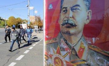 Atgriešanās PSRS: Doņeckas centru rotā Staļina plakāti