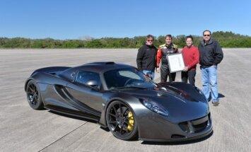 Amerikāņu 'Venom GT' pārspējis 'Bugatti' ātruma rekordu