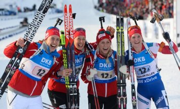 Norway: Synnoeve Solemdal, Fanny Horn Birkeland, Tiril Eckhoff and Marte Olsbu win 4x6 km relay