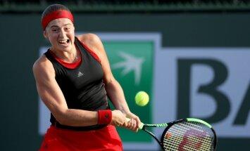 Ostapenko Indianvelsas WTA turnīra trešajā kārtā piekāpjas horvātietei Martičai