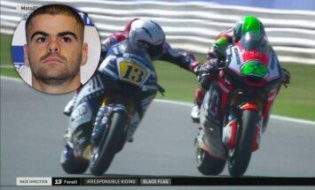 Skandalozais 'Moto2' braucējs Fenati līdz gada beigām zaudējis FIM licenci