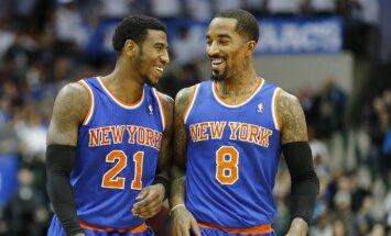 NBA soda 'Knicks' 'asprāti', kurš atsēja pretiniekam šņores