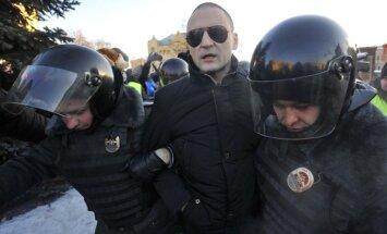Maskavā aiztur opozīcijas aktīvistus Udaļcovu, Sobčaku, Jašinu un Navaļniju