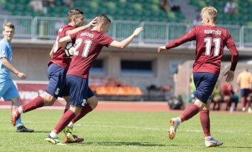 'Jelgavas' futbolisti mazākumā izrauj uzvaru pār 'Valmiera Glass'/ViA