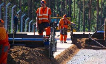 Biķernieku rallijkrosa trasē šonedēļ tiks pabeigta 'netīrā seguma' būvniecība