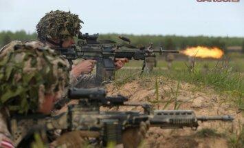 Латвийские солдаты участвуют в международных военных учениях в Грузии