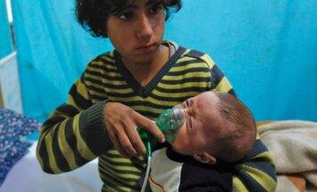 Krievija kavē ANO Drošības padomi nosodīt ķīmiskos uzbrukumus Sīrijā