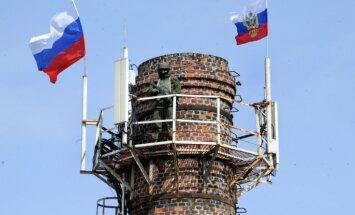 Krievijas karogs pacelts virs visām Ukrainas armijas daļām Krimā