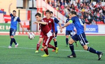 Latvijas futbolisti vēsturiskā spēlē Gibraltārā atkārto rekordu